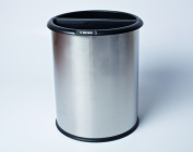 Commercial Zone 781029 InnRoom Recycler & amp;#44; Stainless Steel Wastebasket Classic Smooth Design