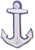 Songbird Essentials White & Blue Anchor Small Window Thermometer