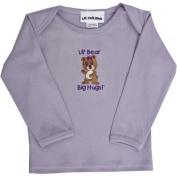 Lil Cub Hub 5CLSTGBL-1824 Lavender Long Sleeve T-Shirt - Girl Bear 18-24 months