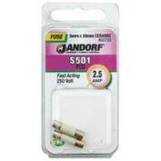 Jandorf Specialty Hardw Fuse S501 2.5A Fast Acting 60720