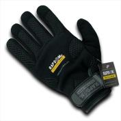 RapDom T26-PL-BLK-01 Breathable Mechanic Glove - Black Small