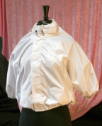 Shower Shirt Water-Resistant Garment for Surgery Patients White - Size PLUS - 2X-4X