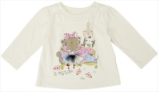 Klever Kids FW12-I19-6-12 Baby Girl -Knit Long Sleeve Crew Neck Graphic T-Shirt 6-12 Months