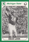 Autograph Warehouse 101240 Dean Look Football Card Michigan State 1990 Collegiate Collection No. 78