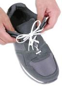Shoe Laces Elastic White 30 Pk/3 pr.