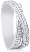 Doma Jewellery MAS02149-9 Sterling Silver Ring with CZ - Size 9