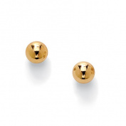 PalmBeach Jewellery 49722 10k Yellow Gold Ball Stud Earrings 4 mm