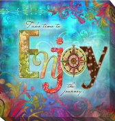 Artistic Home Gallery 1212708G Enjoy by Connie Haley Premium Gallery-Wrapped Canvas Giclee Wall Art