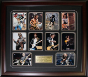 Midway Memorabilia Top 10 Guitarists Compilation Rock N Roll Music Frame