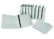 Samsill 28cm x 22cm . Anti-Microbial Heavy Duty Locking Presentation Round Ring Binder - White Pack 30