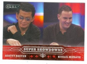 Scotty Nguyen and Michael Mizrachi trading card 2006 Razor Poker No.51