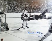 Autograph Authentic flat_8x10_orr_flies Bobby Orr The Goal Autographed 8 x 10 Photograph Boston Bruins