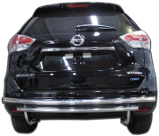 Broadfeet Motorsports Equipment RDNI-542-55 Stainless Steel Rear Double Layer - 2014-2016 fits Nissan -Rogue