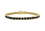 Fine Jewellery Vault UBBR14YRD131200BD Black Diamond Tennis Bracelet with 2 CT Black Diamonds