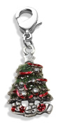Whimsical Gifts 2199S Christmas Tree Charm Dangle in Silver
