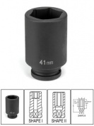 Medco GRY-3024MD Grey Pneumatic Deep Impact Socket - 0.75 In. Drive x 24 Mm..