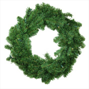 NorthLight 60cm . Battery Operated Canadian Pine Artificial Christmas Wreath - Clear LED Lights