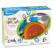 Learning Resources LRNLER9257 New Sprouts Cook It Play Chef Set 6 Per Set