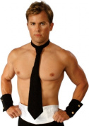 Alexanders Costumes 27-054-R Long Tie And Cuff Set Red - New Item