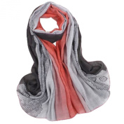 Fashion Scarves Winter Warm Cotton & Linen Scarf Infinity scarf,Light Red