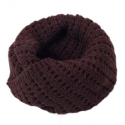 Winter Warm Knit Scarf Knitted Scarves Loop Scarfs Neck Wrap,Brown