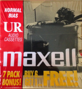 Maxell Normal Bias UR Audio Cassettes 7 Pack