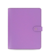 Filofax 2016 A5 Leather Organiser The Original Lilac with DiLoro Jot Pad refill 022399