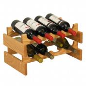 Wooden Mallet WR42LO 8 Bottle Dakota Wine Rack