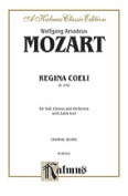 Alfred 00-K06342 Mozart Regina Coeli K276 V Book