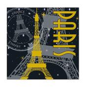 Beistle 58175 Paris Beverage Napkins Pack Of 12
