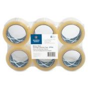 Business Source BSN32946 Sealing Tape Heavy Duty 7.6cm . Core 110YD1.6mil 6RollsCLR