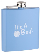 FJX Wholesale HFL-PD004BB 180ml Baby Blue Painting Boy Flask