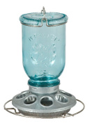 Perky Pet PP784 Antique Wide Blue Glass Seed Feeder