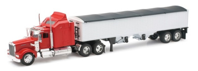 New Ray 10773 Kenworth W900 Grain Hauler Long Hauler Toy Truck Pack of 6
