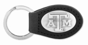 ZeppelinProducts TAM-KL6-BLK Texas A & M Leather Key Fob Black