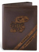 ZeppelinProducts UKS-IWD2-BRW Kansas Trifold Debossed Leather Wallet
