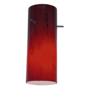 Access Lighting 23130-RUSKY Cylinder Pendant Glass Shade - Red Sky
