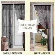 Thread 55x84 Curtain Panel - Black