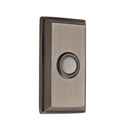 Baldwin 9BR7015-005 Wired Rectangular Bell Button - Matte Antique Nickel