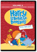 Rising Star Education HBD003 Harry & amp; His Bucket Full of Dinosaurs- Vol. 3 - Perseverance- Cooperation- Consideration- Uniqueness- DVD