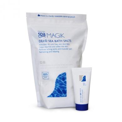 Dead Sea Spa Magik Dead Sea Bath Salts 1kg/35oz with free 50ml Spa Magik Moisturiser worth £6!