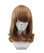 Etruke Short Brown Braids Hair Bun Amnesia Cosplay Wigs