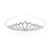 Pixnor PIXNOR Bride Bridesmaid Girl's Rhinestone Decorated Hairband Tiara