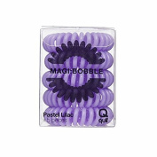 Magi Hair Bobble Traceless Hair Ring And Bracelet - Pastel Lilac Invisible Hair Bobble Pack of 5, Pain Free Hair Band, Reduces Split Ends