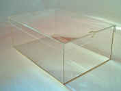 Shoe Box/Display Box with Lid for Acrylic, Storage Box, Storage Box, Stackable box, large, Transparent)