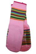 Weri Spezials Baby and Children Voll-ABS-Turtle Slippers Anti Non Slip Socks, Colourful World! Rose