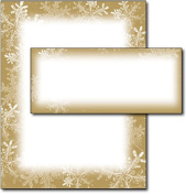 Frosted Holiday Wishes Letterhead & Envelopes - 40 Sets