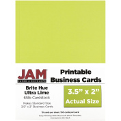 JAM Paper® - Lime Green Printable Business Cards (8.9cm x 5.1cm ) - 100 Cards per Pack