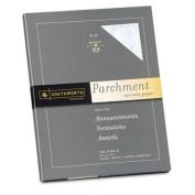 Southworth Colours+Textures Collection® Fine Parchment Paper, Blue, 11kg, Letter (SOUP964CK) Category