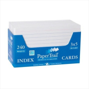 Roaring Spring Index Cards in a Tray, White Paper, Ruled One Side, 7.6cm x 13cm , 240 per Tray